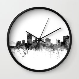 Toledo Ohio Skyline Wall Clock
