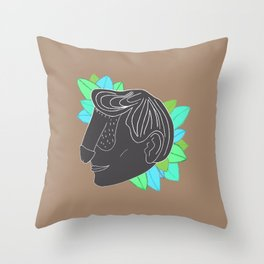 Dickface VIII Throw Pillow