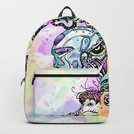 Robots vs Dodo - Festival - Colorful - Art by Lana Chromium Backpack