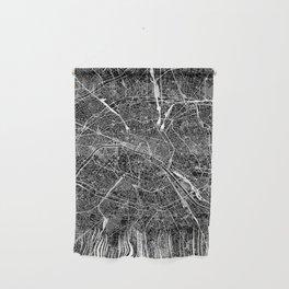 Paris Black Map Wall Hanging