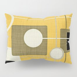 orbs and square gold yellow Pillow Sham