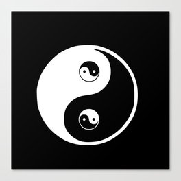 Ying yang the symbol of harmony and balance- good and evil Canvas Print