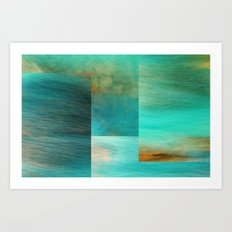 Fantasy Oceans Collage Art Print