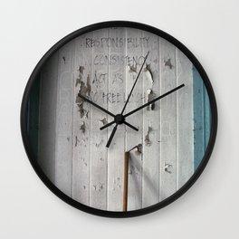 Honesty Wall Clock