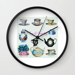 Tea & Empathy Wall Clock