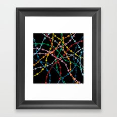 Trapped on Black Framed Art Print