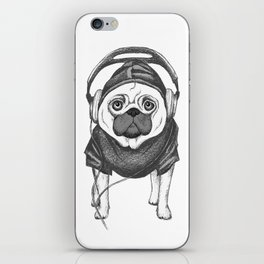DJ Pug iPhone Skin