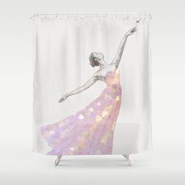 Crystal Ballerina Shower Curtain
