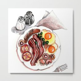 A Breakfast with eggs and bacon Metal Print