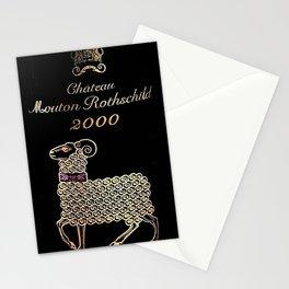 Vintage 2000 Chateau Rothschild Wine Bottle Label Print Stationery Cards
