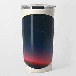Pink Purple & Navy blue Sunset With Shooting Star Travel Mug