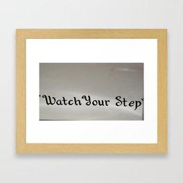 warning :-]] Framed Art Print