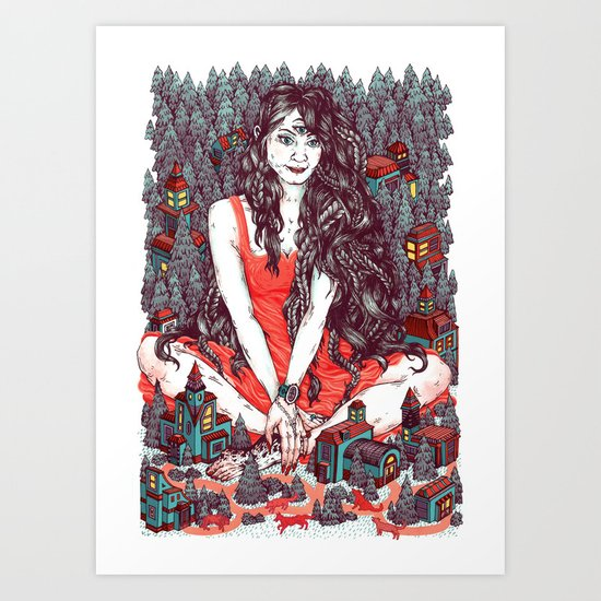 Three Eyed Girl Art Print