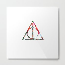 The Deathly Floral Hallows Metal Print