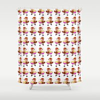 best friends Shower Curtains featuring Best friends! by Velm