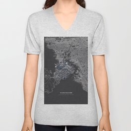 Vancouver city map Unisex V-Neck