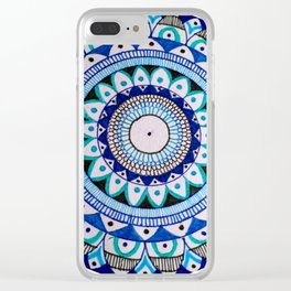 Blue Life Clear iPhone Case