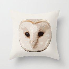 barn owl Head Throw Pillow