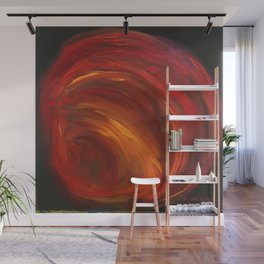 """""""Mainly Red"""" Wall Mural"""