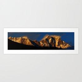 Everest Sunset Art Print