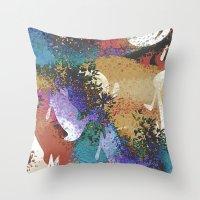 australia Throw Pillows featuring Australia by Art Dissolution