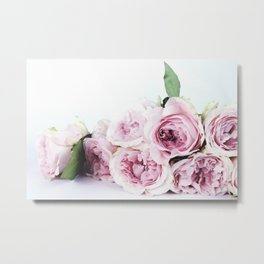 Pink peoniews Metal Print