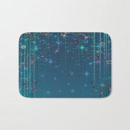 Magic fairy abstract shiny background with stars Bath Mat