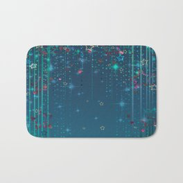 Magic fairy abstract shiny background with stars Bath Mat