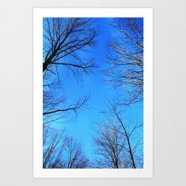 scratch the sky Art Print