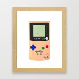 GAMEBOY JIGGLYPUFF EDITION Framed Art Print