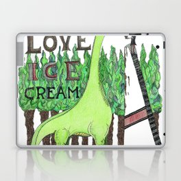 Dinosaurs Love Ice Cream Laptop & iPad Skin