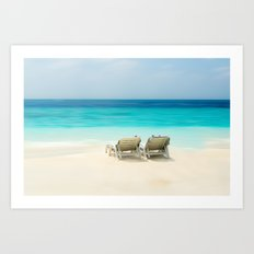 enjoy the day at the sea Art Print