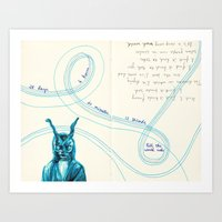 donnie darko Art Prints featuring Donnie Darko by wwei