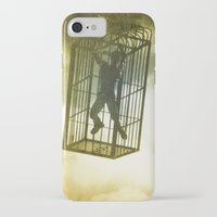 cage iPhone & iPod Cases featuring Cage by Azure Cricket
