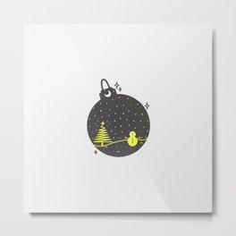 Christmas inside a sphere Metal Print