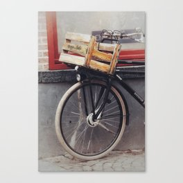 Bicycle, Wood Crate Canvas Print