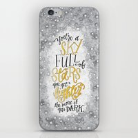 coldplay iPhone & iPod Skins featuring A Sky Full Of Stars [Coldplay] by Jillian Kaye