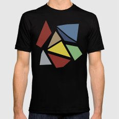 Abstraction Black Mens Fitted Tee MEDIUM