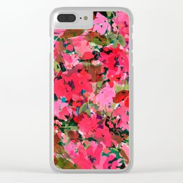 Wild Rose Garden Clear iPhone Case