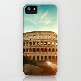 Colosseum Amphitheatre Rome Italy iPhone Case