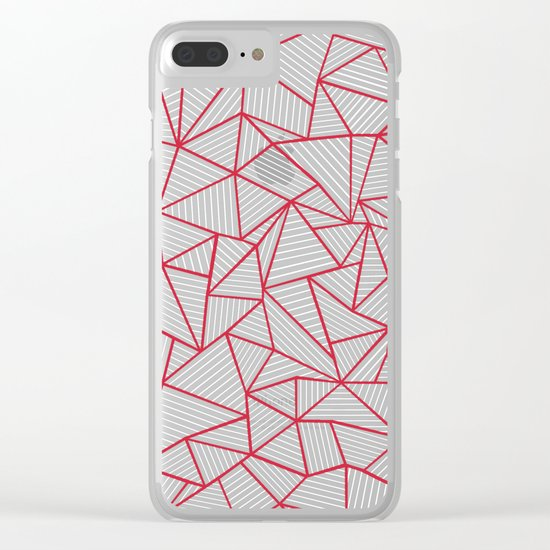 Ab Out Navy Red Clear iPhone Case
