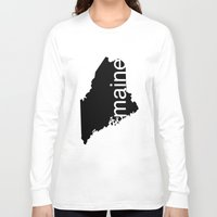 maine Long Sleeve T-shirts featuring Maine by Isabel Moreno-Garcia