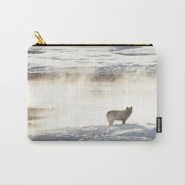 Yellowstone National Park - Wolf and Hot Spring Carry-All Pouch
