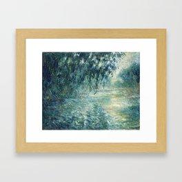 1898-Claude Monet-Morning on the Seine- 73 x 91 Framed Art Print