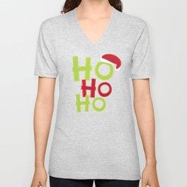 Ho Ho Ho Merry Christmas and Happy New Year Unisex V-Neck
