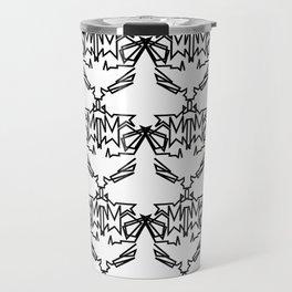 Luxury mandalas vint. black--white BW Travel Mug