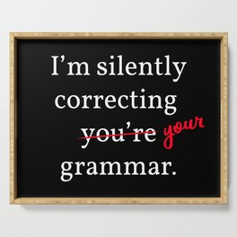 Silently Correcting Your Grammar I Serving Tray