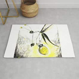 Overworked Lightening Bug Rug