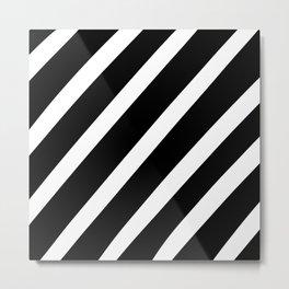 Black'n'White Stripes Metal Print