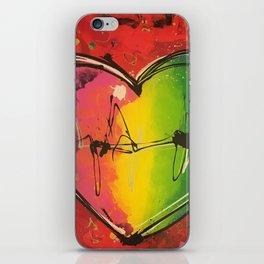 Colorful love iPhone Skin